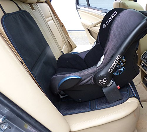 just pure hut child car seat protector mat auto leather saver plus includes protective baby. Black Bedroom Furniture Sets. Home Design Ideas