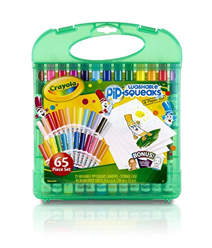 Crayola Pip-Squeaks Washable Markers & Paper Set, Kids Travel ...