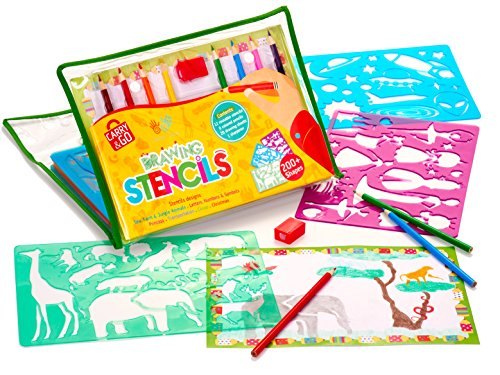 drawing plastic stencils set for child fun