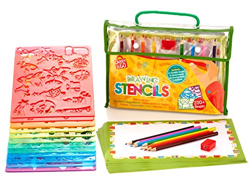 drawing plastic stencils set for child fun - Kids Drawing Stencils