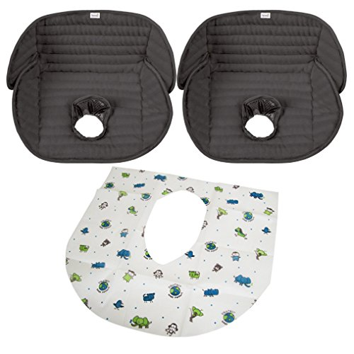 Summer Infant Deluxe Piddle Pad, Black - 2 Pack with Disposable ...