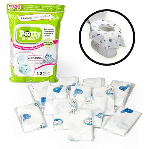toilet seat covers disposable xl potty seat covers by potty shields u2013 wrapped