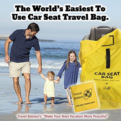 Travel Babeez Durable Car Seat Travel Bag, Airport Gate Check Bag ...