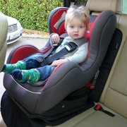 Just Pure Hut Child Car Seat Protector Mat Auto Leather Saver Plus Includes Protective Baby Sunshade