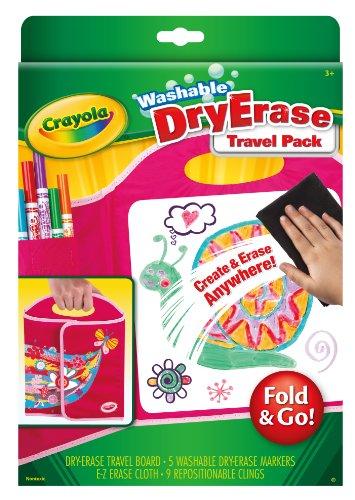 crayola washable dry erase travel pack fold go art tools great