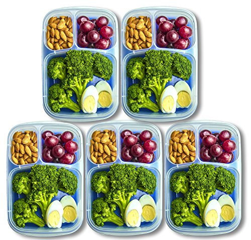 Orgalif Lunch Container For Kids 3 Comparment Reusable